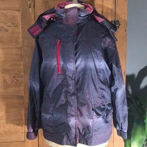 ATHLETECH girls winter coat removable hood 14/16